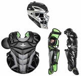 All-Star Black Adult System 7 Axis Professional/College Catcher's Gear Set CKPRO1XBK