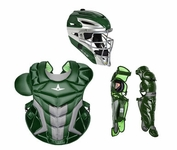 All-Star Green Adult System 7 Axis Professional/College Catcher's Gear Set CKPRO1XGN