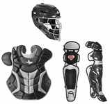All-Star Black/Silver Adult System 7 Professional/College Catcher's Gear Set CKPRO1
