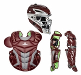 All-Star Maroon Adult System 7 Axis Professional/College Catcher's Gear Set CKPRO1XMN