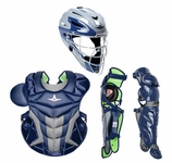 All-Star Navy Adult System 7 Axis Professional/College Catcher's Gear Set CKPRO1XNY