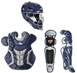 All-Star Navy/Silver Adult System 7 Professional/College Catcher's Gear Set CKPRO1