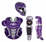 All-Star Purple Adult System 7 Professional/College Catcher's Gear Set CKPRO1