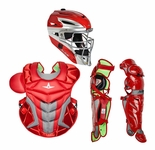 All-Star Red Adult System 7 Axis Professional/College Catcher's Gear Set CKPRO1XRD