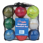Champion Sports Weighted Training Baseballs BBWTSET - 9-PACK