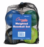 Champion Sports Weighted Training Baseballs BBWTSET4 - 4-PACK