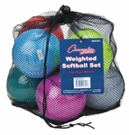 Champion Sports Weighted Training Softballs SBWTSET 8-PACK