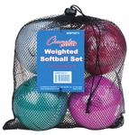 Champion Sports Weighted Training Softballs SBWTSET4 - 4-PACK