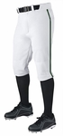 Demarini Adult Pro + Knicker White/Green Piped Baseball Pants