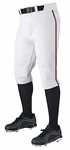 Demarini Pro + Knicker White/Maroon Adult Piped Baseball Pants