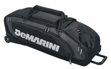 DeMarini Black Special Ops Wheeled Bat Bag WTD9409BL