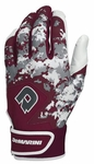 DeMarini Digi Camo Adult Batting Glove WTD6113 - Maroon