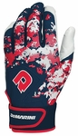 DeMarini Digi Camo Adult Batting Glove WTD6113 - Navy / Scarlet