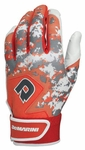 DeMarini Digi Camo Adult Batting Glove WTD6113 - Orange