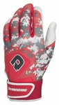 DeMarini Digi Camo Adult Batting Glove WTD6113 - Scarlet