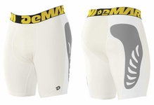 DeMarini Men's Game Day TORQ-D Sliding Shorts White WTD105010