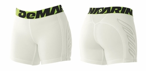 DeMarini Women's Premium Sliding Shorts White WTD305110