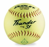 "Dudley 12"" Yellow Slowpitch Thunder Hycon Softballs 4A-069Y -- 1 DZ"