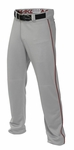 Easton Adult Mako II Gray/Maroon Piped Baseball Pants A167101