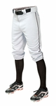 Easton Adult Pro + Piped Knicker White/Black Baseball Pants A167105WHBKS