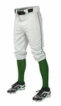 Easton Adult Pro + Piped Knicker White/Green Baseball Pants A167105WHGNS