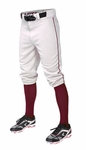 Easton Adult Pro + Piped Knicker White/Maroon Baseball Pants A167105WHMNS