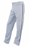 Easton Adult Gray/Black Rival Piped Pants A164561