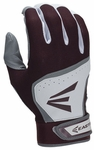 Easton HS7 Adult White/Maroon Batting Glove (2015)