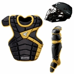 Easton M10 Custom Color Catcher's Set Intermediate - Black / Gold