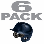 Easton Natural Adult Solid Navy Batting Helmets 6-pack -- Fits 6 5/8 to 7 1/2