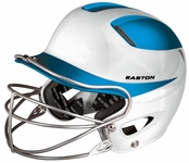 Easton Natural Two-Tone Helmet w/ Mask White / Carolina Blue - Adult