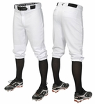 Easton Pro + Knicker Adult White Solid Baseball Pants A167103