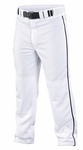 Easton Adult/Youth Quantum Plus Piped Pants White/Navy A164617