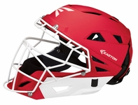 Easton Red Adult Fastpitch Grip Catcher's Helmet A165344