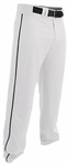 Easton Rival 2 White/Black Youth Piped Baseball Pants A167125WHBK