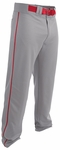 Easton Rival 2 Gray/Red Youth Piped Baseball Pants A167125GRRD