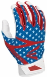 Easton Stars and Stripes Adult Z7 Hyperskin Batting Gloves