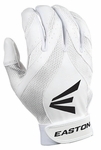 Easton Synergy II Youth White Fastpitch Batting Gloves 6066101