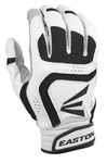 Easton VRS Icon YOUTH White/Black Batting Gloves A121645