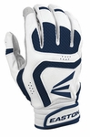 Easton VRS Icon YOUTH White/Navy Batting Gloves A121646