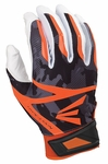 Easton White/Black/Orange Camo Adult Z7 Hyperskin Batting Gloves A121334
