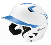 Easton White/Carolina Blue Adult Z5 Two Tone High Gloss Batting Helmet A168085