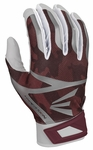 Easton White/Maroon Camo Adult Z7 Hyperskin Batting Gloves