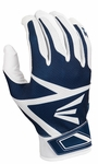 Easton White/Navy Adult Z3 Hyperskin Batting Gloves