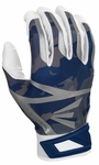 Easton White/Navy Camo Adult Z7 Hyperskin Batting Gloves