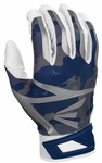 Easton White/Navy Camo Youth Z7 Hyperskin Batting Gloves
