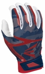 Easton White/Navy/Red Camo Adult Z7 Hyperskin Batting Gloves