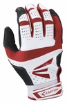Easton White / Red Adult HS9 Batting Gloves A121591
