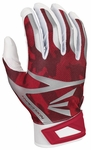 Easton White/Red Camo Adult Z7 Hyperskin Batting Gloves