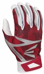 Easton White/Red Camo Youth Z7 Hyperskin Batting Gloves A121321